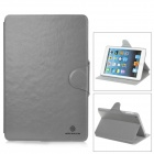 NILLKIN Stylish Protective PU Leather Case w/ Swivel Holder for Ipad MINI - Grey