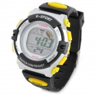 F45 Stylish Sports Digital Water Resistant Wrist Watch for Children - Yellow + Black (1 x LR626)