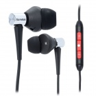 Senmai SM-IP201MV Stylish In-Ear Earphone w/ Microphone for iPhone / HTC / LG / BlackBerry - Black