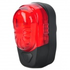 XJ-2220 2-LED 2-Modes Waterproof Bicycle Safety Tail Light - Red + Black (2 x AAA included)