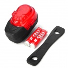 XJ-2220 2-LED -Mode Waterproof Bicycle Safety Tail Light - Red + Black (2 x AAA included)