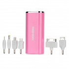 NOHON 4400mAh Portable External Battery for i9300 / LT29i / iPhone 4 + More - Pink
