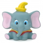 Cute Cartoon Elephant Figure Doll Toy w/ Suction Cup - Grey