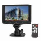 "7"" TFT LCD Touch Screen Car Monitor w/ HDMI / VGA - Black"