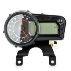 "QJ125-19a1-1 DIY Motorcycle Digital 3.0"" LED Speed Meter - Black"