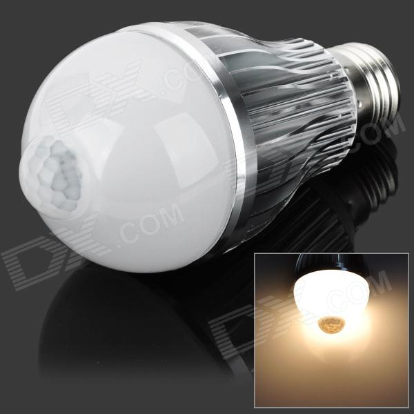 JOYDA-003 E27 6W 550lm 3200k 12-SMD 5630 LED Warm White IR Induction Bulb - White + Silver (85~265V) сумка yuan su d6183 2015