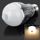 JOYDA-003 E27 6W 550lm 3200k 12-SMD 5630 LED Warm White IR Induction Bulb - White + Silver (85~265V)