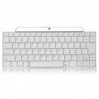 Rechargeable Wireless Bluetooth 3.0 83-Key Keyboard for Smartphone / Tablet PC / Notebook - White