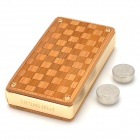 Grid Pattern Electric Touch Sensor Windproof Butane Gas Lighter w/ PU Leather Case - Golden + Yellow