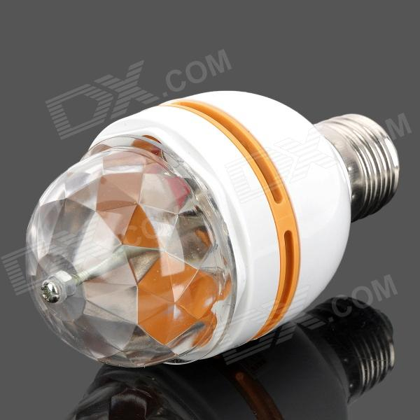 E27 3W 45LM Colorful RGB Light 3-LED Lamp Bulb for Home Deco (90~220V)