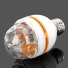 E27 3W 45lm Colorful RGB Light 3-LED Lamp Bulb for Home Decoration - White + Orange