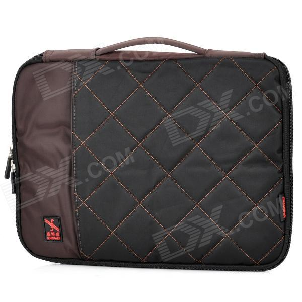 "Stylish Portable Protective Nylon Soft Sleeve Case Bag for 10"" Laptop Notebook - Black + Coffee"
