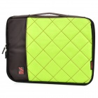 "Stylish Portable Protective Nylon Soft Sleeve Case Bag for 14"" Laptop Notebook - Green + Coffee"