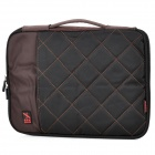 "Stylish Portable Protective Nylon Soft Sleeve Case Bag for 13"" Laptop Notebook - Black + Coffee"
