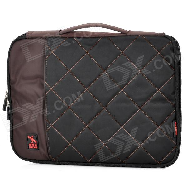 Stylish Portable Protective Nylon Soft Sleeve Case Bag for 15 Laptop Notebook - Black + Coffee [swgool] skullies