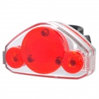 xc-762 6-Mode 5-LED Red Light Bicycle Cycling Tail Light - Red + Silver (2 x AAA)
