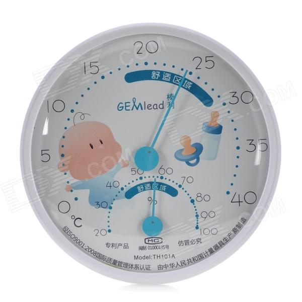 GEMlead TH101A Comfort Measure Thermometer Hygrometer - White