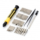 JACKLY JK-6098-A 45-in-1 Repair Disassemble Screwdriver Tool Set for Laptop + More - Orange
