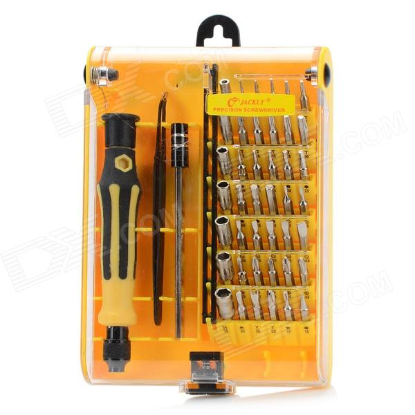 jackly jk 6098 a 45 in 1 repair disassemble screwdriver tool set for laptop. Black Bedroom Furniture Sets. Home Design Ideas