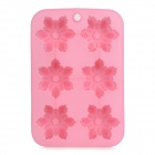 Christmas Snowflake Style 6-Cup Silicone DIY Muffin Tray Cupcake Cake Case Mold - Pink