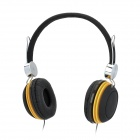 SSK EPb003 Stylish Headphone Headset for PC / Laptop - Black + Yellow (3.5mm Plug)