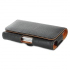 Protective PU Leather Waistband Case for Iphone 4 / 4S - Black
