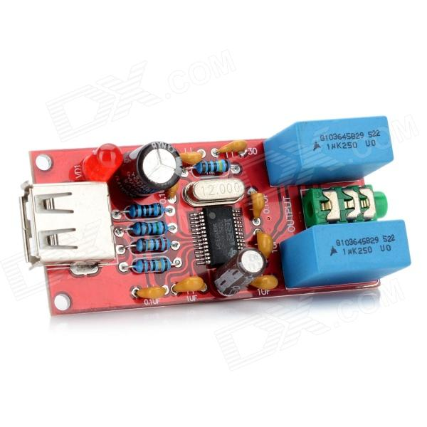 USB DAC PCM2704 Decoder - Red