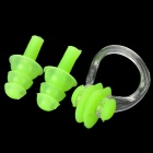 Swimming Nose Clips + Silicone Earplugs Set - Fluorescent Green