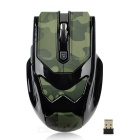 Lingdu L535 2.4GHz Wireless Optical Mouse 5D Gaming - Camuflaje Verde + Negro (2 x AAA)