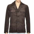 Men's Fashion Casual Corduroy Coat - Coffee (Size XL)