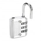 CR-03A Resettable Security 3-Digit Combination Padlock - Silver