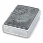 Aircraft of World War I Pattern Zinc Alloy Fuel Oil Lighter - Silver