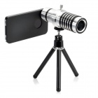 Detachable 14x Camera Zoom Optical Telescope Telephoto Lens Set for Iphone 4 / 4S - Silver + Black
