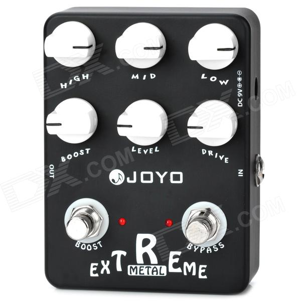 JOYO JF-17 True Bypass Design Extreme Metal Guitar Effects Pedals - Black (1 x 9V) nux metal core distortion effect pedal true bypass guitar effects pedal built in 2 band eq tone lock preset function guitar part