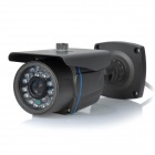 "ZEA-AFS003 1/3"" CMOS 3.6mm Lens Surveillance Security Camera w/ 24-LED IR Night Vision - Dark Grey"