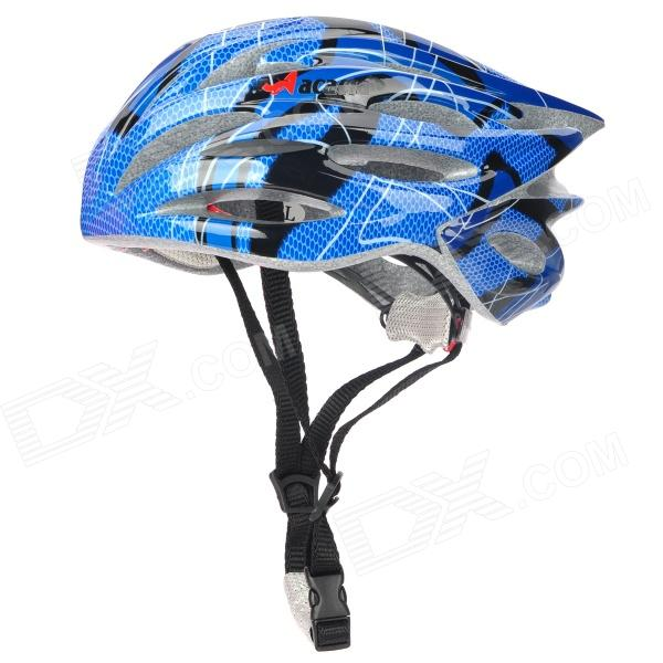 ACACIA Outdoor Bike Bicycle Cycling PC + EPS Helmet - Blue + Black