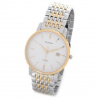 OLIPAI JT9038-SG-SW Men's Business Quartz Analog Wrist Watch w/ Calendar - Silver + Golden + White