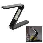 Folding USB 18-LED White Light Eye Protection Lamp w/ Calendar / Alarm Clock - Black