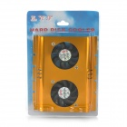 "FS01 Dual-Fan 9-Blade Aluminum USB Fan for 3.5"" HDD - Golden"