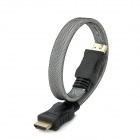 HDMI 1.4 Male to Male Connection Cable - Black + White (35cm)