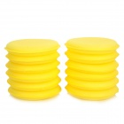 Car Washable Wax Sponge Polishing Pad Cleaner - Yellow (12 PCS)
