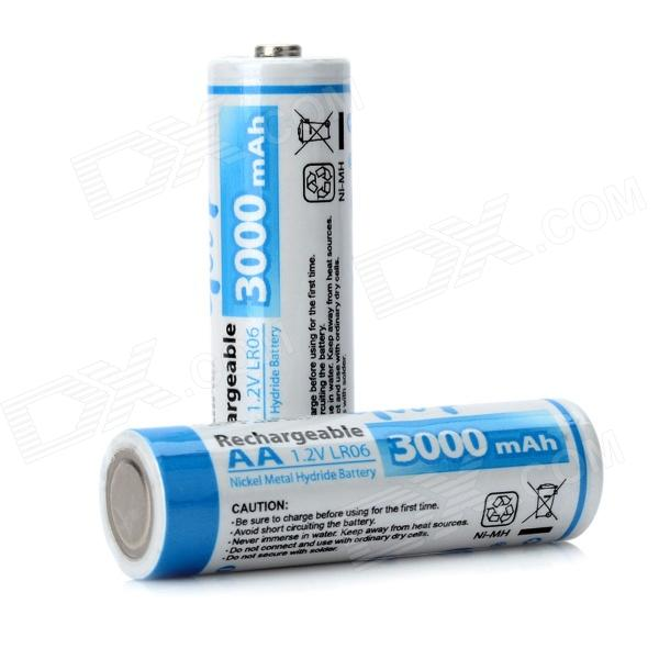 GD-AA-2B-7 1.2V 3000mAh Ni-MH Rechargeable AA Batteries - (Pair) катушка lucky john anira spin 7 3000 fd