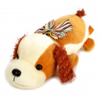 KSQ004 PP Cotton Dog Toy Style Car Adornment Bamboo Charcoal Bag - Brown + Light Ivory