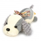 Car Adornment Bamboo Charcoal Conton Dog Doll Toy - Grey + Milky-White