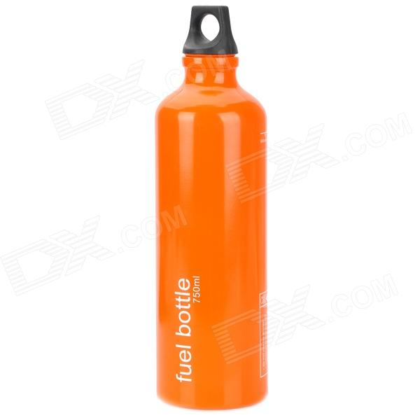 Portable Outdoor Traveling Aluminum Alloy Burner Fuel Bottle - Orange (750ml) gj4431 portable outdoor aluminum water bottle orange 400ml