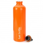 Portátil al aire libre de la aleación de aluminio Traveling Quemador de Fuel Bottle - Orange (750 ml)