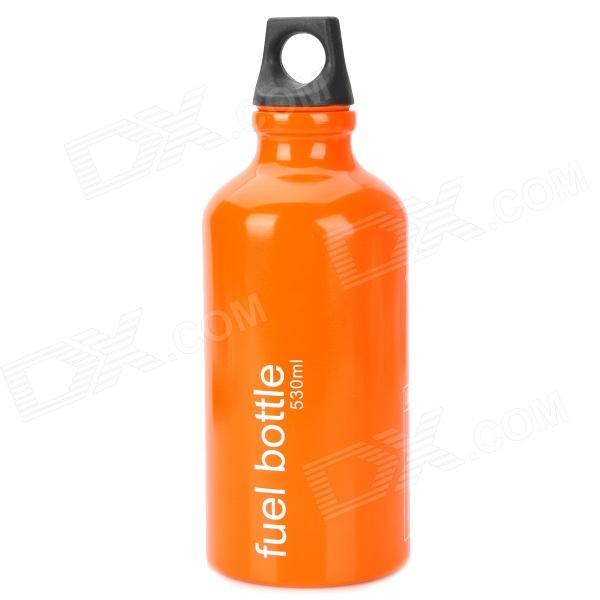 Portátil al aire libre de la aleación de aluminio Traveling Quemador de Fuel Bottle - Orange (530ml)