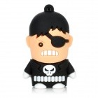 Cartoon Figure Shaped USB 2.0 Flash Drive - Black + White (8GB)