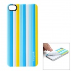 iEasypatch Soft Foam 3D Back Sticker for Iphone 4 / 4S - Light Blue + White + Yellow + Blue + Purple