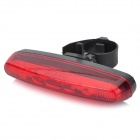 4-Mode 5-LED Red Light Bicycle Safety Tail Light w/ Bike Mount - Red + Black (2 x AAA)